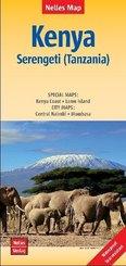 Nelles Map Landkarte Kenya - Serengeti (Tanzania) | Kenia - Serengeti (Tansania) | Kenya - Serengeti (Tanzanie) | Kenia