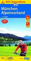 ADFC-Regionalkarte München Alpenvorland mit Tagestouren-Vorschlägen, 1:75.000, reiß- und wetterfest, GPS-Tracks Download