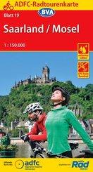 ADFC-Radtourenkarte 19 Saarland /Mosel 1:150.000, reiß- und wetterfest, GPS-Tracks Download