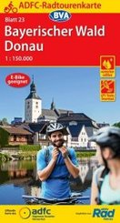 ADFC-Radtourenkarte 23 Bayerischer Wald Donau 1:150.000, reiß- und wetterfest, GPS-Tracks Download