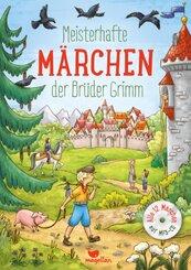 Meisterhafte Märchen der Brüder Grimm, m. Audio-CD, MP3