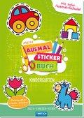 Mein Ausmal Sticker Buch Kindergarten