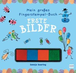 Mein großes Fingerstempel-Buch - Erste Bilder, m. Stempelkissen