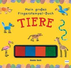 Mein großes Fingerstempel-Buch - Tiere, m. Stempelkissen