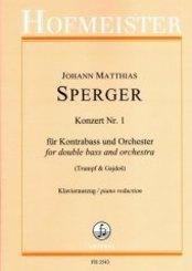 Konzert Nr. 1 für Kontrabass und Orchester / KlA