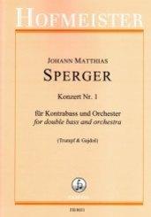 Konzert Nr. 1 für Kontrabass und Orchester / Partitur