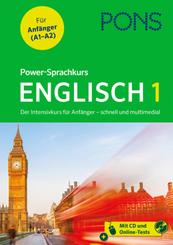 PONS Power-Sprachkurs Englisch 1, m. Audio-CD, MP3