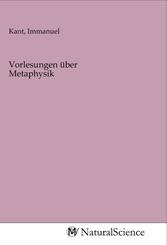 Vorlesungen über Metaphysik