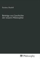 Beiträge zur Geschichte der neuern Philosophie