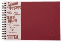 Reisealbum Age Bag A4 quer liniert und blanko 40 Blatt, Rot