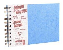 Reisealbum Age Bag A4 quer liniert und blanko 40 Blatt, Blau