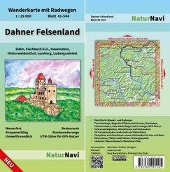 NaturNavi Wanderkarte mit Radwegen Dahner Felsenland