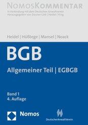 Bürgerliches Gesetzbuch: Allgemeiner Teil - EGBGB
