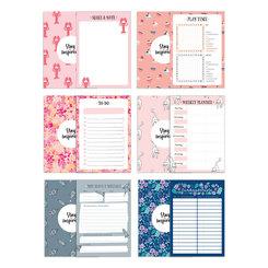 6 Notizblöcke A6 inkl. To Do Liste, Notizblock, Wochenplaner bzw. Kalender, Einkaufsliste und Block Schiffe versenken
