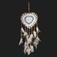 Traumfänger Herz, gehäkelt, 23cm