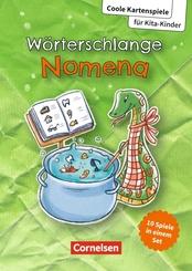 Coole Kartenspiele für Kita-Kinder / Wörterschlange Nomena