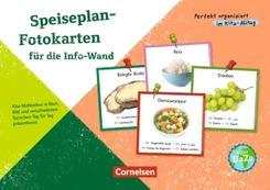Speiseplan-Fotokarten für die Info-Wand