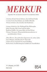 MERKUR Deutsche Zeitschrift für europäisches Denken - Nr.854