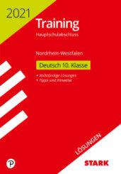 Training Hauptschulabschluss 2021 - Deutsch, Lösungen - Nordrhein-Westfalen