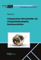 Leistungsstarke Infrarotemitter mit schrägwinkelbedampften Emissionssichten
