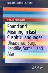 Sound and Meaning in East Cushitic Languages
