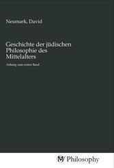 Geschichte der jüdischen Philosophie des Mittelalters