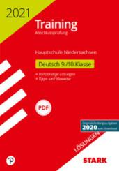 Training Abschlussprüfung Hauptschule 2021 - Deutsch Lösungen 9./10. Klasse - Niedersachsen