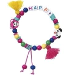 Mini Perlen Armband Set, Happy