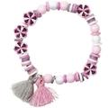 Mini Perlen Armband Set, Rosa, Grau