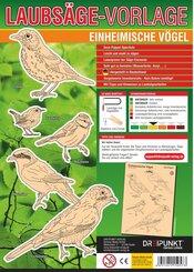 Laubsägevorlage Einheimische Vögel