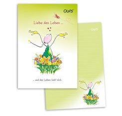 OUPS Schreibblock A5 - liniert - grün