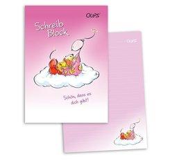 OUPS Schreibblock A5 - liniert - rosa