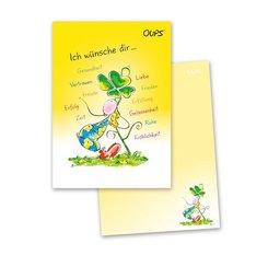 OUPS Notizblock A6 - unliniert - gelb
