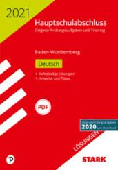 Hauptschulabschluss 2021 - Deutsch 9. Klasse, Lösungen - Baden-Württemberg