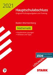 Hauptschulabschluss 2021 - Mathematik 9. Klasse, Lösungen - Baden-Württemberg
