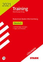 Training Abschlussprüfung Realschule 2021 - Deutsch, Lösungen - Baden-Württemberg