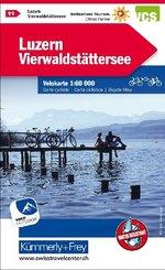 Luzern, Vierwaldstättersee Velokarte Nr. 11