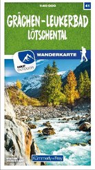 Grächen - Leukerbad Lötschental 41 Wanderkarte 1:40 000 matt laminiert