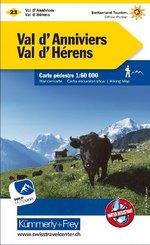 Val d'Anniviers, Val d'Hérens Wanderkarte Nr. 23