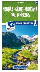 Nendaz - Crans-Montana Val d'Hérens 40 Wanderkarte 1:40 000 matt laminiert