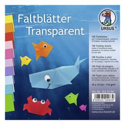 "URSUS 100 Faltblätter ""Transparentpapier"", 15 x 15 cm, bunt"