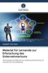Material für Lernende zur Erforschung des Unternehmertums