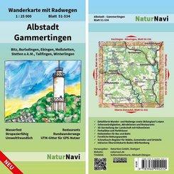 NaturNavi Wanderkarte mit Radwegen  Albstadt - Gammertingen