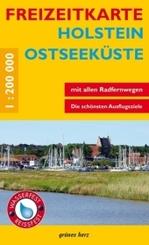 Freizeitkarte Holstein, Ostseeküste