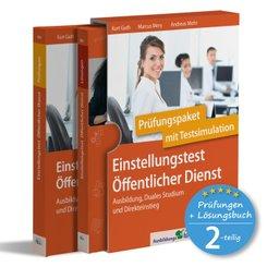 Einstellungstest Öffentlicher Dienst: Prüfungspaket mit Testsimulation, 2 Teile