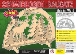Bausatz Schwibbogen 'Elch im Wald'