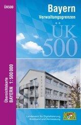 ÜK500 Amtliche Übersichtskarte von Bayern 1:500000 / ÜK500 Übersichtskarte von Bayern 1:500000; .