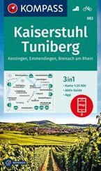 KOMPASS Wanderkarte Kaiserstuhl, Tuniberg, Kenzingen, Emmendingen, Breisach am Rhein; Book III