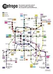 Metropa - Das europäische Superschnellbahnnetz, Poster, Plano in Rolle
