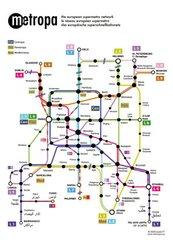Metropa - Das europäische Superschnellbahnnetz, Poster, Großformat